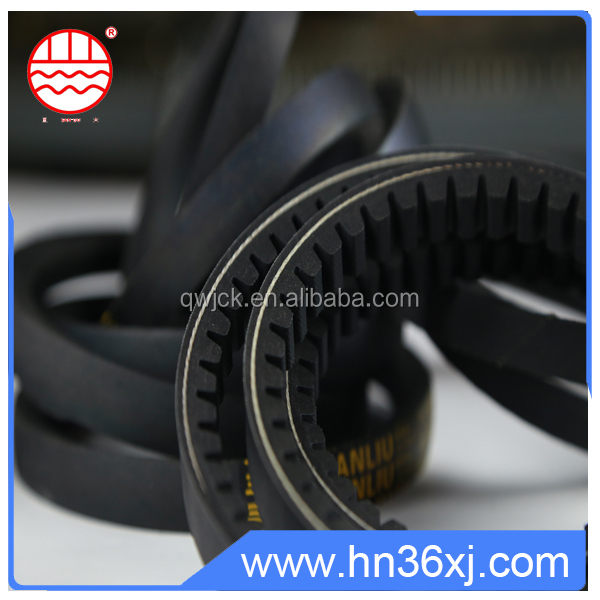 Automatic link rubber toothed drive belt