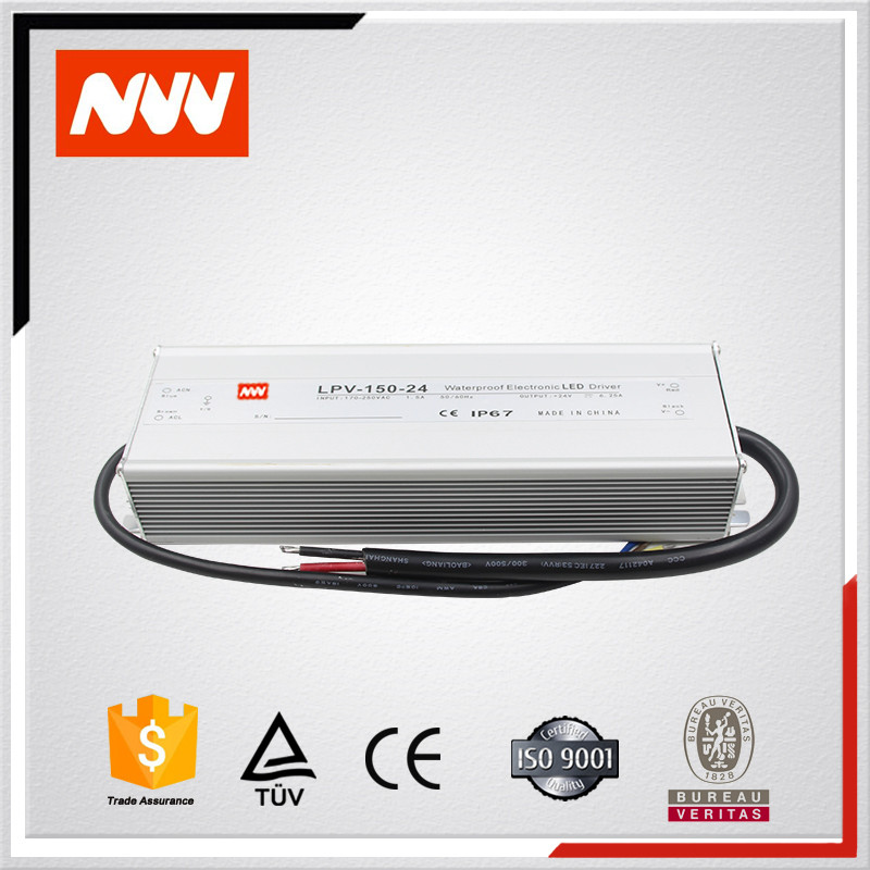 LPV-150-24 150w 220v 110v ac to 24v dc water proof switching mode converter power supply