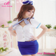 Hot Selling 4pcs Fly Girl Sexy Air Hostess Costume Uniform
