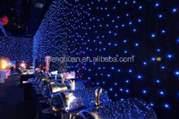 rgb color 2m*3m soft video led curtain, starry sky ceiling for led star light effects