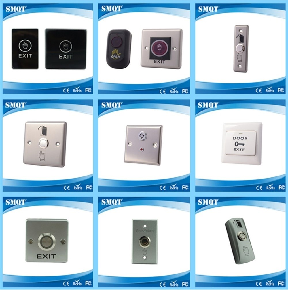 Stainless steel Switch Push button for Mini door/Hollow door in access control