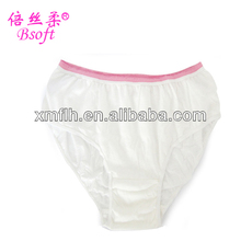 Disposable 100% Cotton Young Girl Wearing Panties with Sterilization