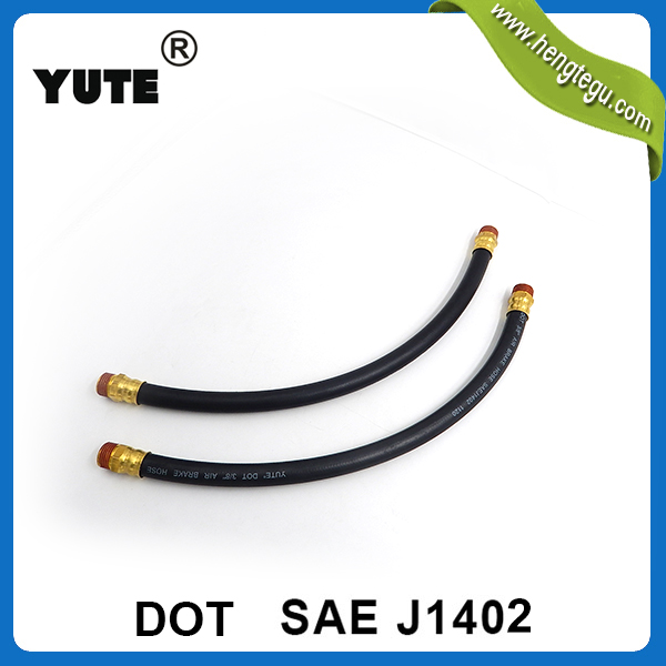 yute sae j1402 3/8 inch air brake chamber hoses with dot approve