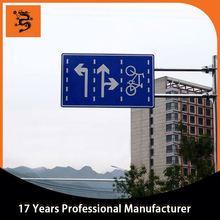 galvanized steel road safety traffic sign pole