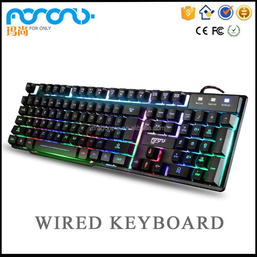 The best mechanical gaming keyboard usb 2.0 wired red led light computer keyboard