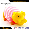 rubber shrilling pig toys/cute supperman rubber pig toys/rubber pig toys