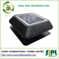 12 inch 12W fixed solar panel powered solar attic fan