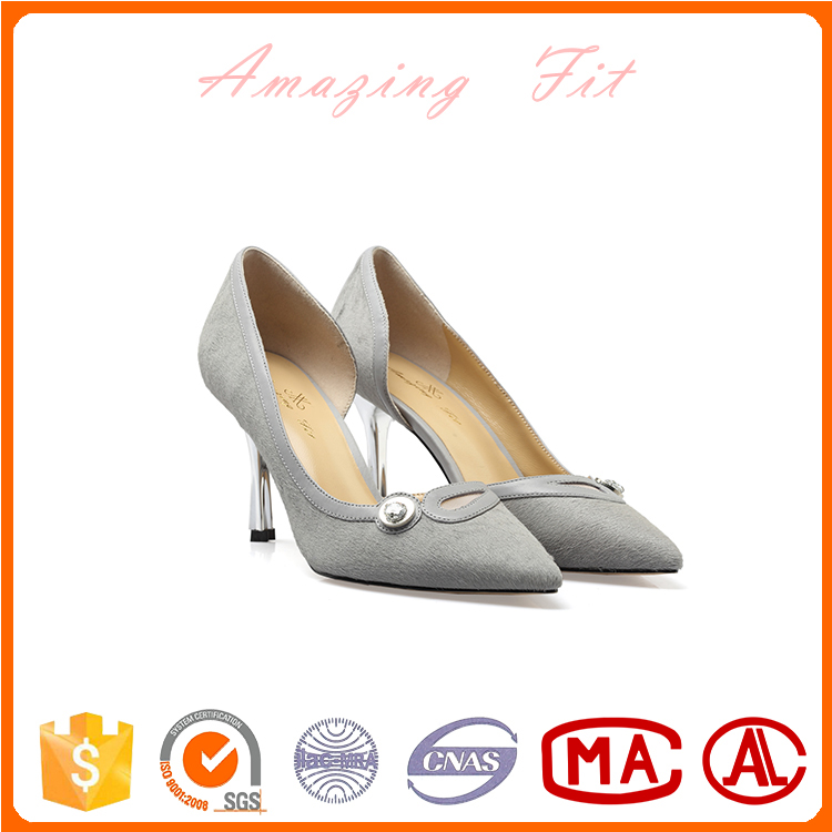 2017 Newest design fashion women party shoes women high heel leather shoes