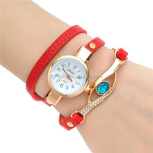 leather bracelet quartz watch women fashion lady bracelet watch