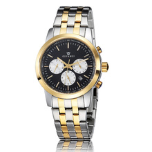 OUYAWEI Men's Luxury stainless steel 3 index 6 hands watch with all stainless steel