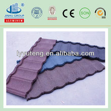 colorful stone coated metal roofing tiles/stone chip roof tiles for villa