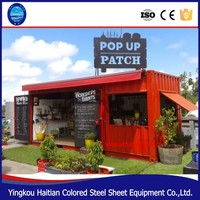 updated design prefab mobile container house,container store,prefabricated container coffee shops