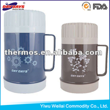 High quality plastic food jar with glass