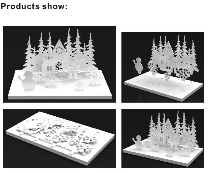 fashion white Christmas theme design tree jewelry display stands