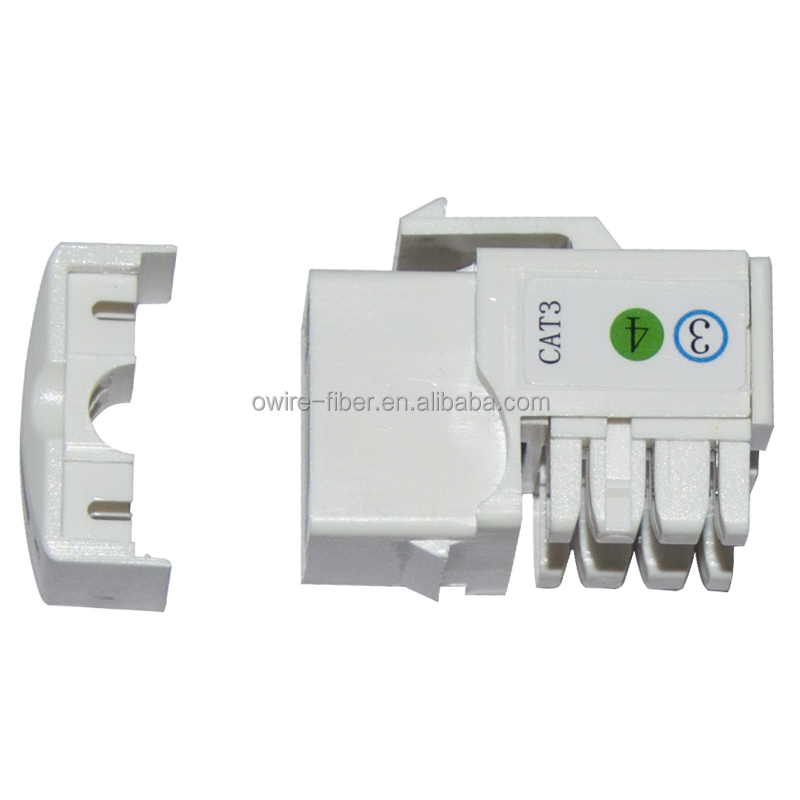 Network Solution RJ11 4P4C UTP 90 Degree Cat 3 telephone Keystone Jack
