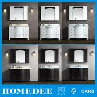 Homedee Solid Wood Carcase Material fully assembled bathroom cabinets