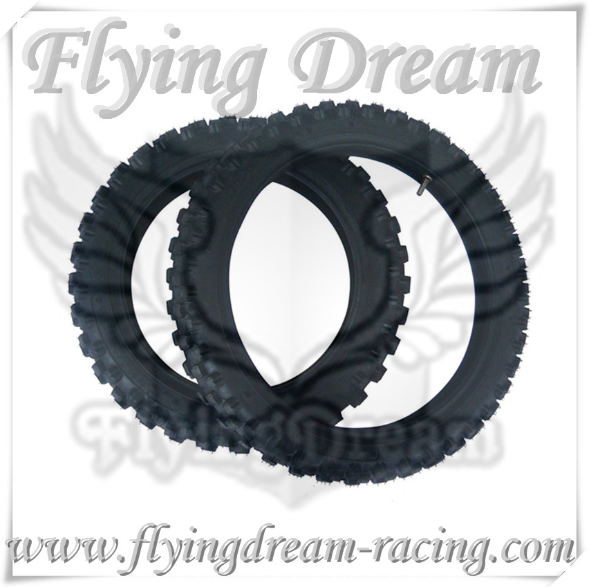 pit bike yuan xing quality tire front 14 rear 12 60/100-14&80/100-12 dirt bike parts ,mini moto parts
