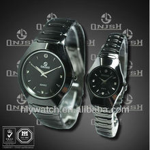 (2013 Top brand latest design 3atm water resistant Japan movement stainless steel back case lovers watches) HLY-1906