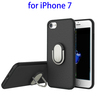PU Coated PC Protective Mobile Phone Back Cover Case for iPhone 7 with A Ring Holder