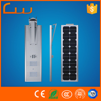 China durable company auto-sensing all in one motion sensor LED solar street light