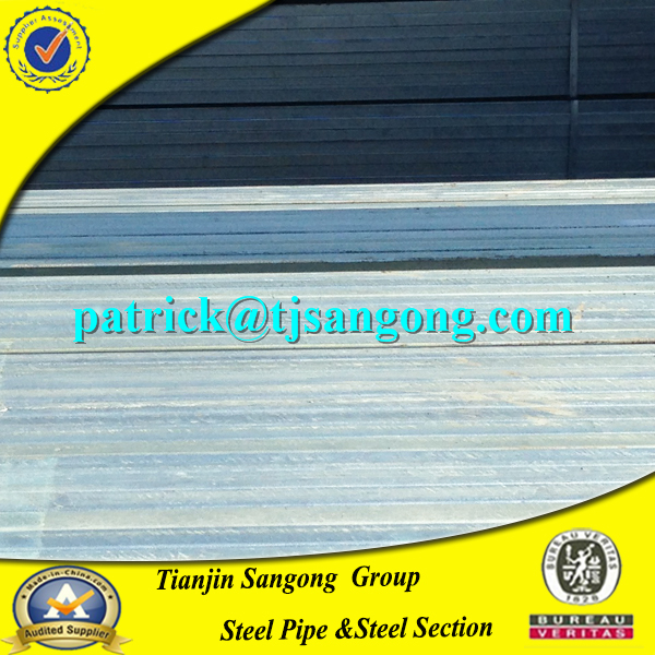 manufacture galvanized steel square pipe acier tuyaux carres for building construction