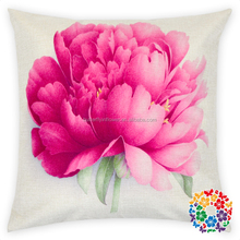 Rose Flower Printing Cotton Pillowcase Sofa Decorative Cushion Cover Pillow Case