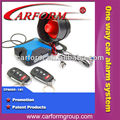anti-hijacking auto one way car alarm system with universal remote control key