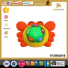 Mini plastic crab toy star light projector