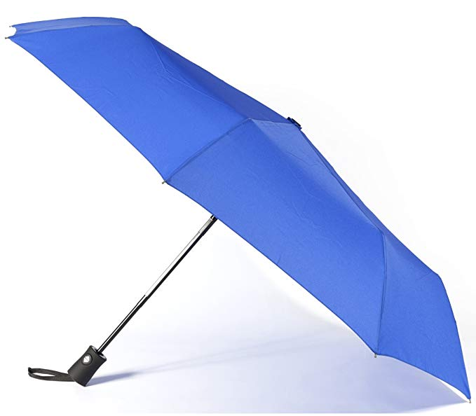 Promotional Advertising  Navy Blue Automatic Open and Close Compact Business 3 Folding umbrella with Custom Logo