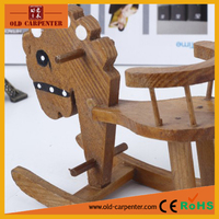 Factory wholesale wooden crafts and gifts blue cartoon horse