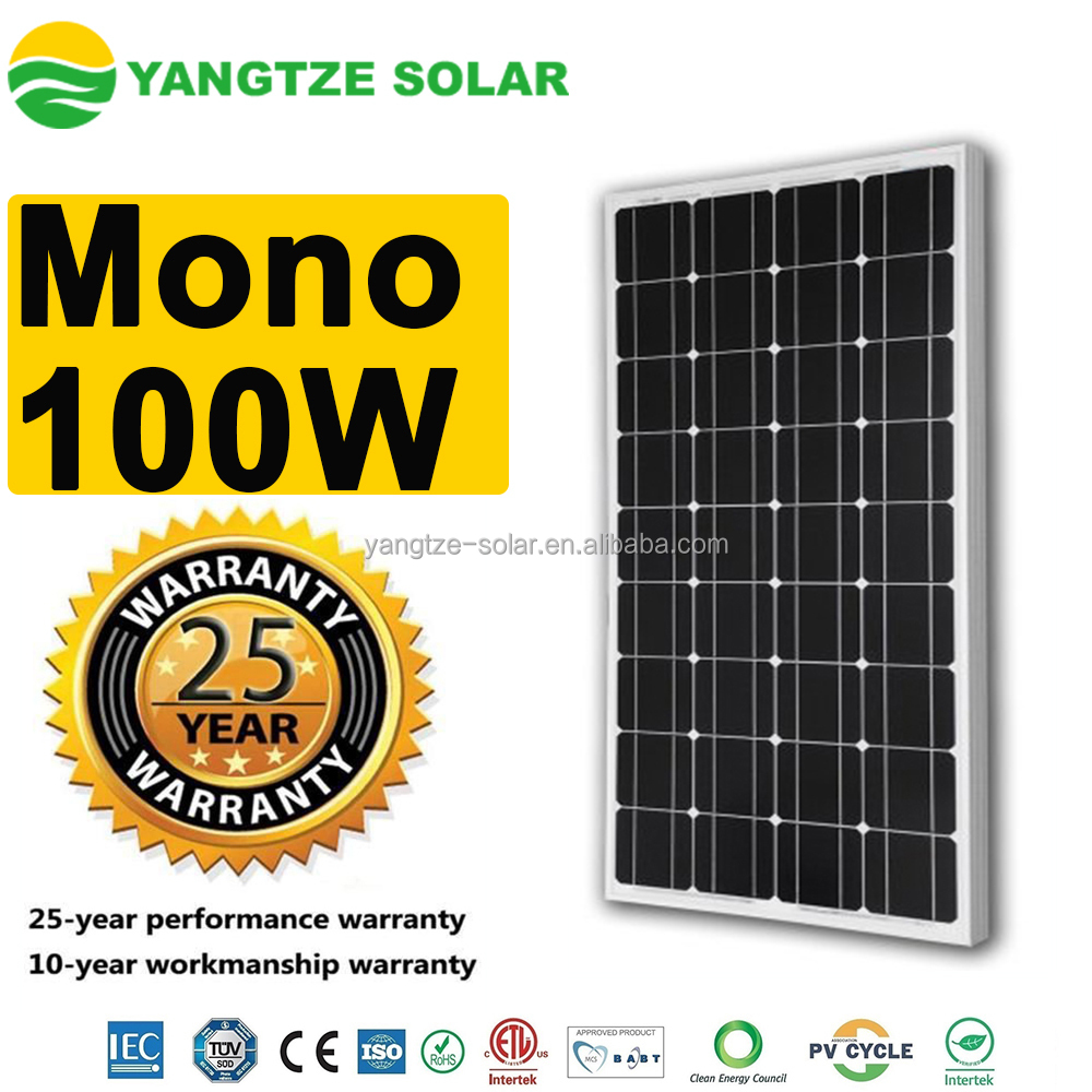 Alibaba top10 Mono 100w solar panel usa manufacturers
