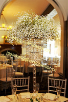 Wedding cheap acrylic 3 floor beaded flower stand decorative centerpiece