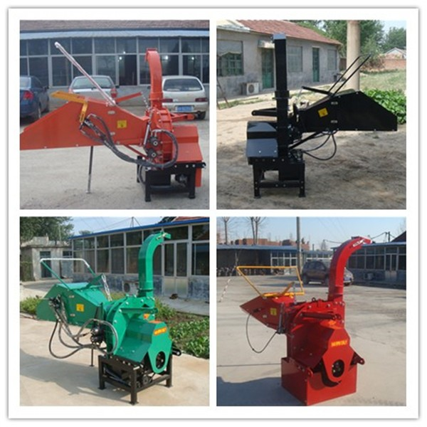 CE approved tractor PTO driven wood chipper with hydraulic feeding