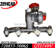 12 month warranty GT1749V turbocharger for Leon 720855-0003, 720855-0004