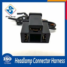 Good Oem car led headlight 3 pin male female automotive wire harness pigtail connector