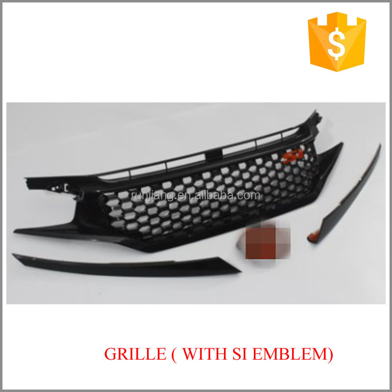 Car Front Bumper Mesh Grille For Honda Civi*c 10th 2016 2017