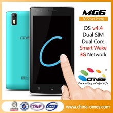 Best MTK Chipset MG6 5 inch IPS Dual Core 5MP android 4.4 Dual Sim 3G no brand cell phone