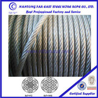 new ateel wire rope ISO 6*7 PVC coted steel colored wire rope for lifting