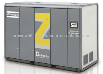 Atlas Copco Low pressure oil-free air compressors Model ZE2 air-cooled - 60 Hz and ZA2 water-cooled - 60 Hz