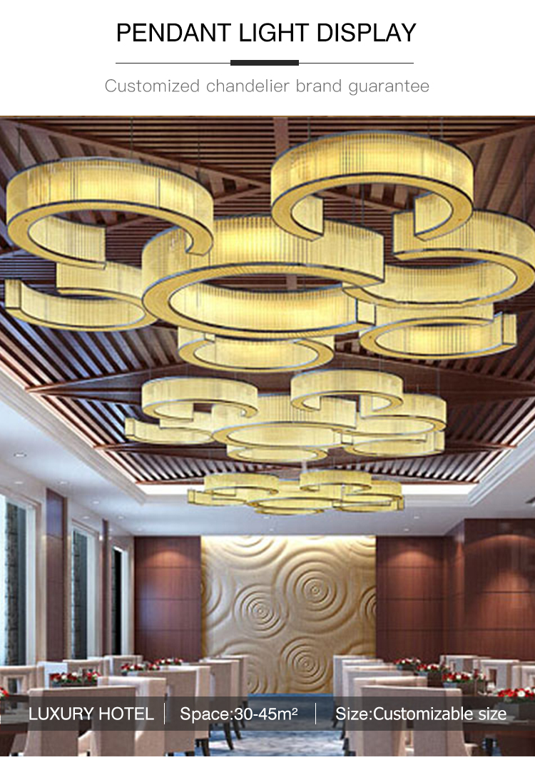 Decoration living room modern New Chinese style Crystal chandelier pendant light