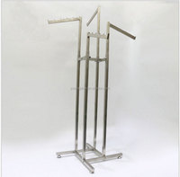 4 way metal clothing baby clothes display rack clothes display rack for kids