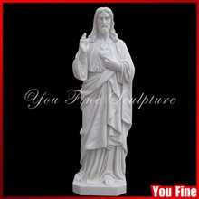 Natural Marble Outdoor Christ Sculpture / Jesus Carving