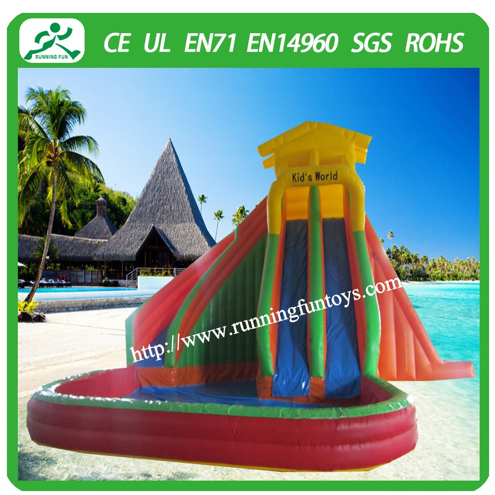 Commercial inflatable water park pool slide with octopus design for sale