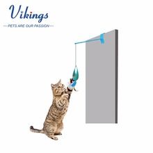 retractable Feline Wacky Swatter Wand Game Interactive Cat Feather Toy with Teaser stick