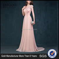 MGOO High Fashion Designs Evening Dress 2015 Bulk Latest Pink Cap Sleeves Floor Length Embroidery Shinning Dress 2029