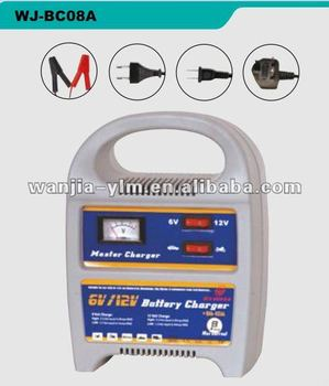 WJ-BC08A 6V/12V 8A auto battery charger,CE approved,with charging indicator light