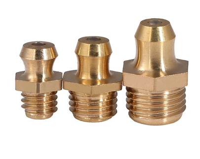 Chrome Or Brass Plated Steel Material Grease Nipples Straight Type / IMPA 617605
