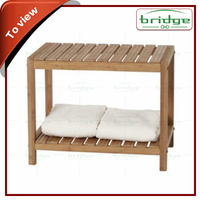 New Fashion 2-tier Bathroom Bamboo bench / bamboo chair / bamboo bathroom seat
