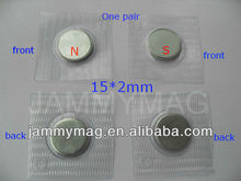 hidden magnetic button covered with pvc film