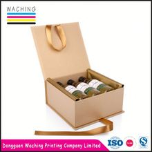 high quality Fashion leather wine carrier box